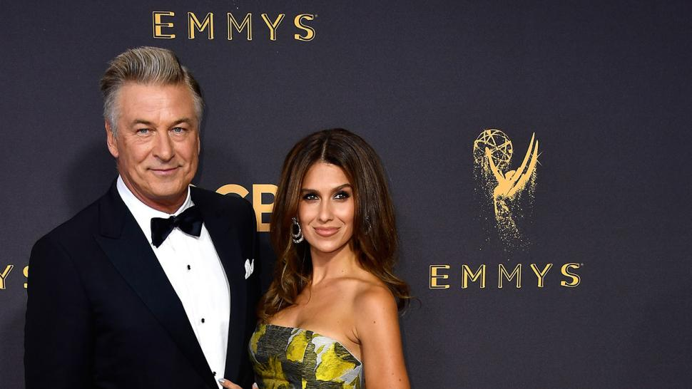 Alec Baldwin and Hilaria Baldwin at 2017 Emmys