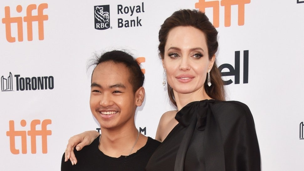 Angelina Jolie and Maddox at TIFF red carpet