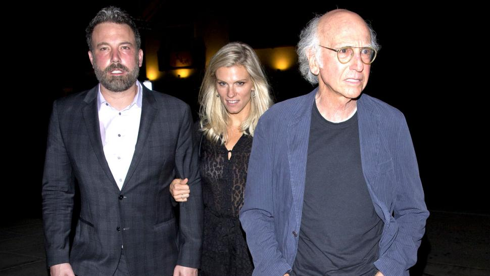 Ben Affleck, Lindsay Shookus and Larry David