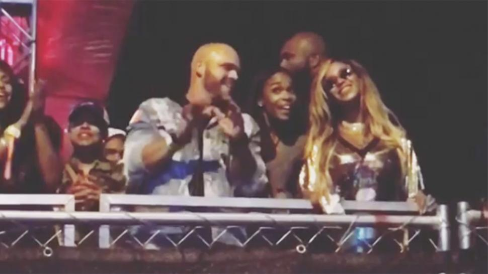 Beyonce and Michelle Williams at Made in America