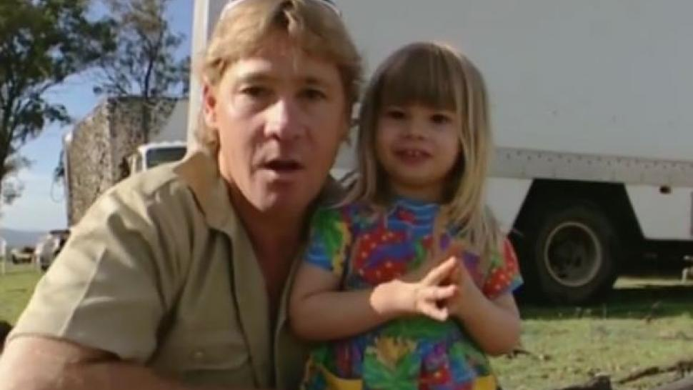 Baby Bindi Irwin and Steve Irwin
