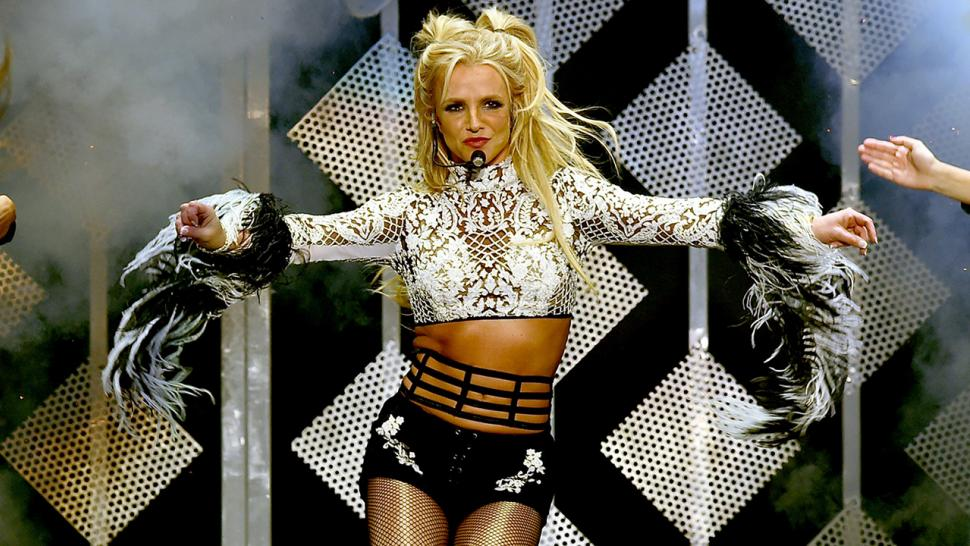 Britney Spears models clothes