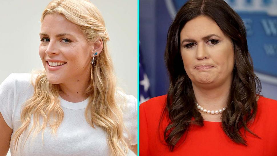 Busy Philipps and Sarah Huckabee Sanders