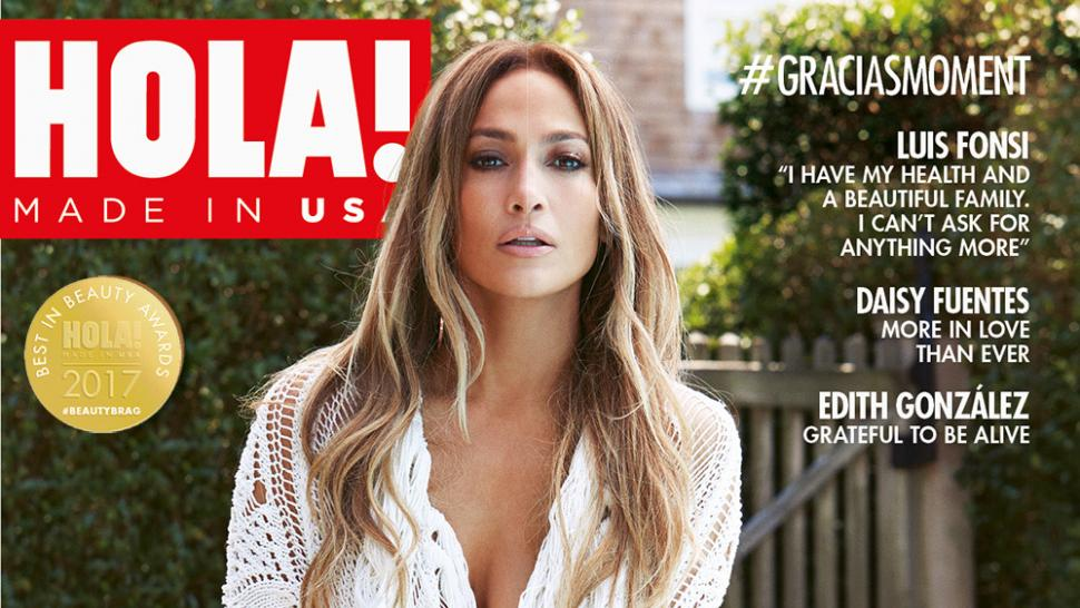 Jennifer Lopez on the cover of HOLA! magazine