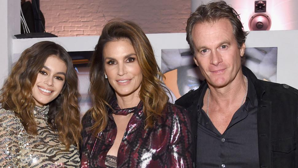 Kaia Gerber with parents Cindy Crawford and Rande Gerber