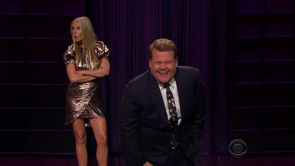 Gwyneth Paltrow catches James Corden