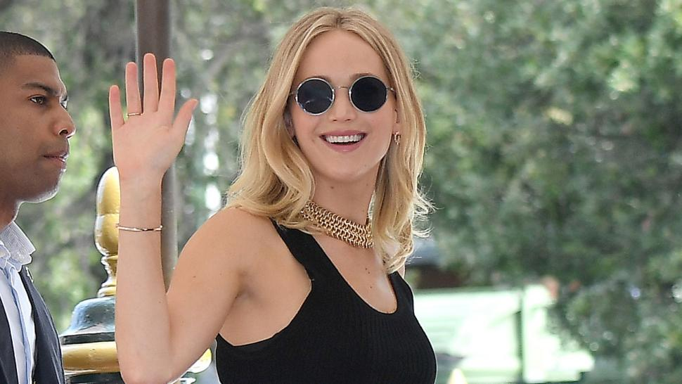 Jennifer Lawrence arrives at Venice Film Festival