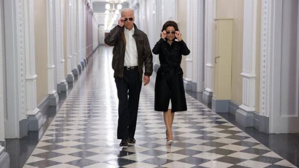 Joe Biden and Julia Louis-Dreyfus screen grab