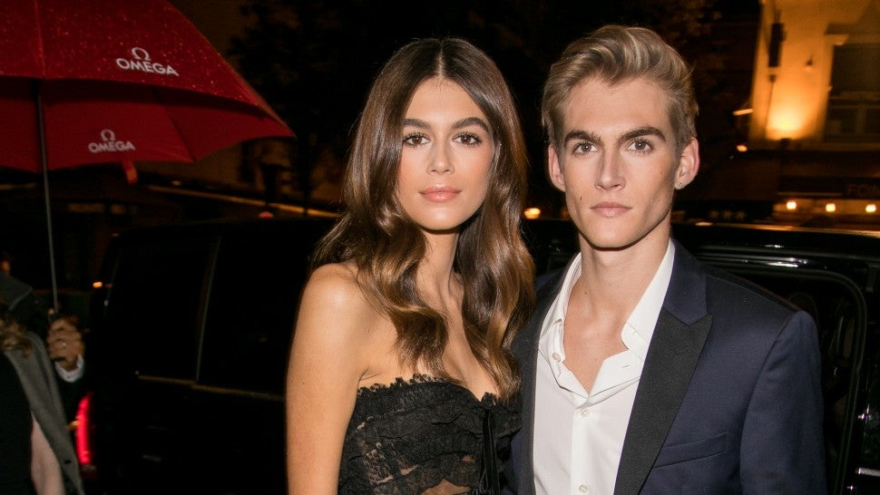 Kaia Gerber and Presley Gerber at Paris Fashion Week 2017