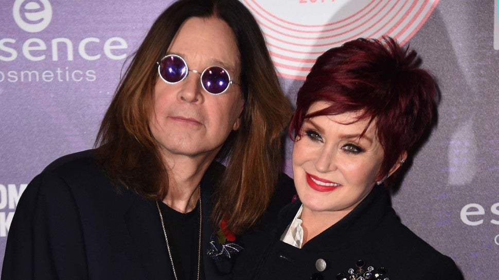 Ozzy Osbourne and Sharon Osbourne at the MTV EMA's 2014