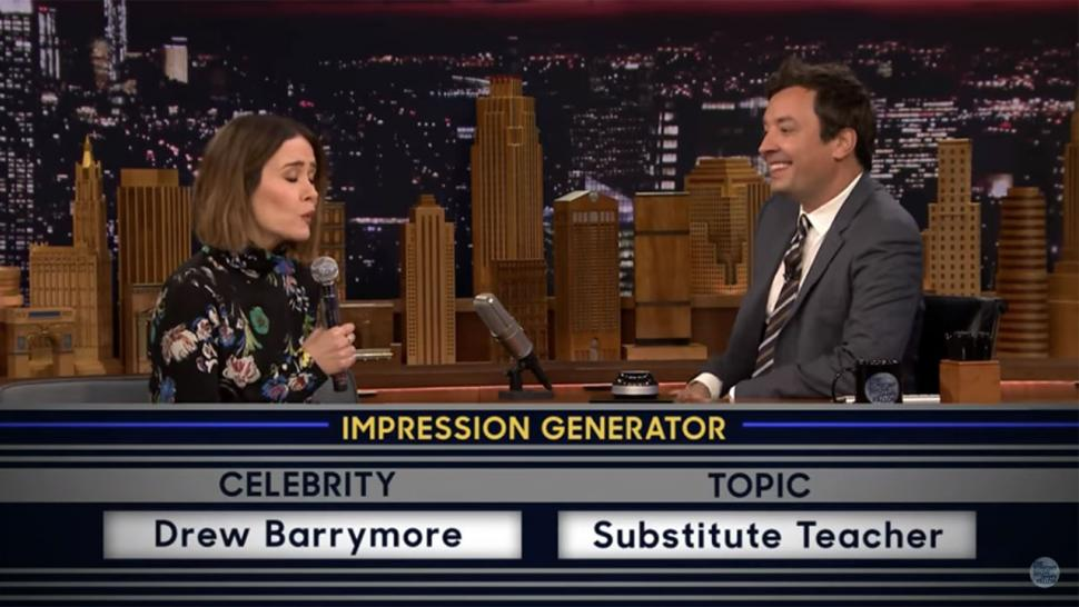 Sarah Paulson does 'Wheel of Impressions'