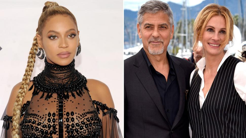 Beyonce, George Clooney and Julia Roberts