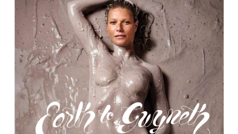 gwyneth paltrow poses semi-nude for first 'goop' magazine