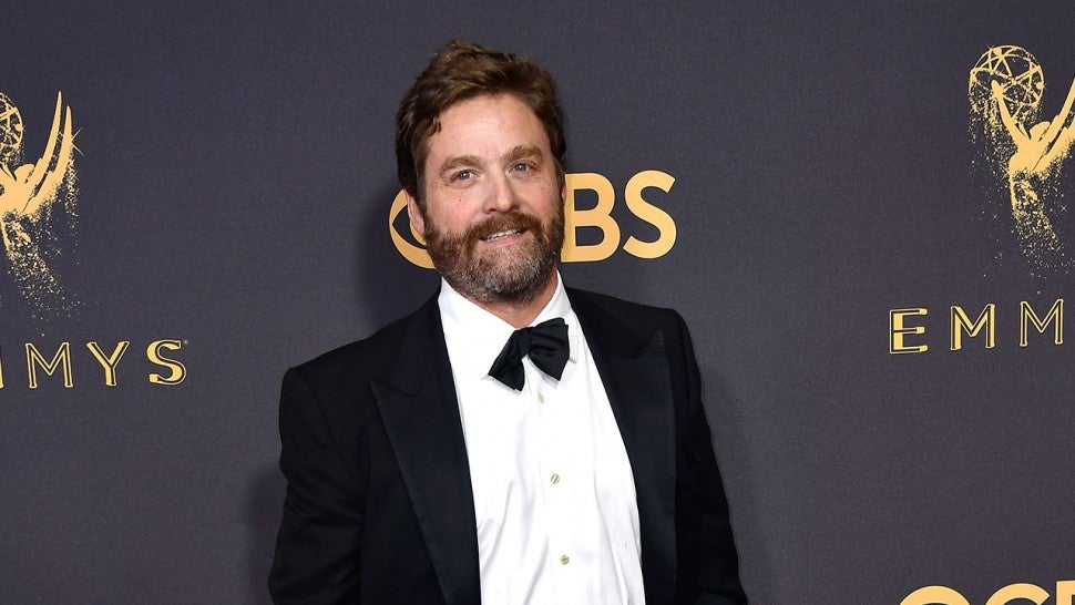 Zach Galifianakis at 2017 Emmys