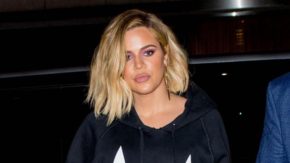 Khloe Kardashian in Good American sweatshirt in NYC