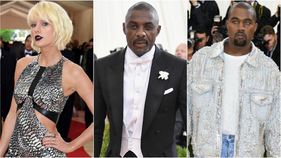 Idris Elba taylor swift kanye west met gala