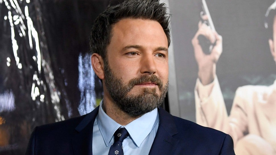 Ben Affleck goes shirtless and shows off massive back tattoo