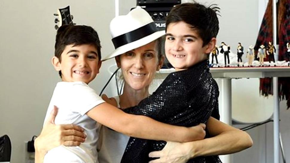 Celine Dion with Twin Boys