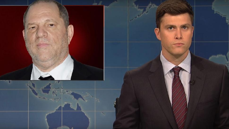 Colin Jost talks about Harvey Weinstein on 'SNL'