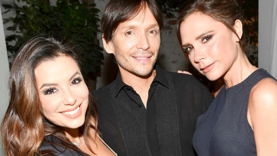 Eva Longoria with Ken Paves and Victoria Beckham