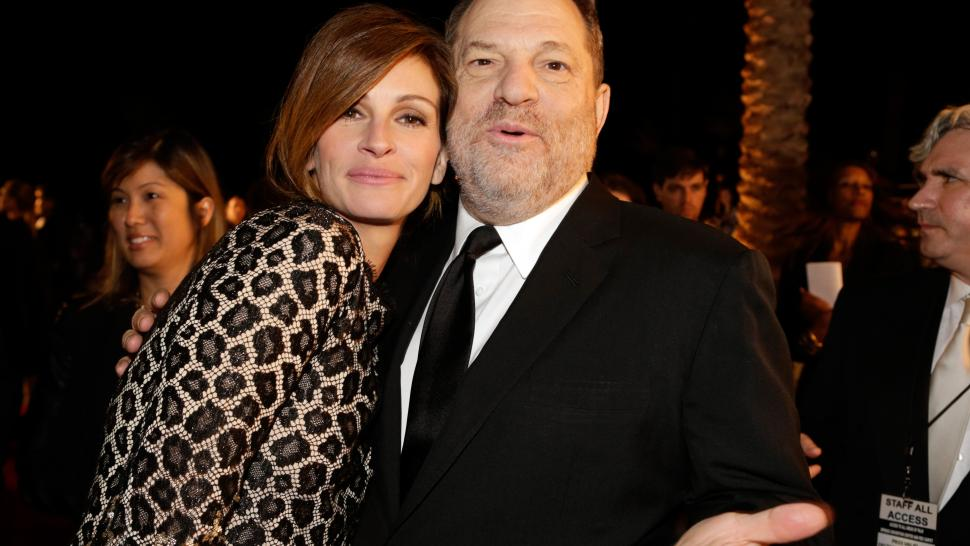 Julia Roberts and Harvey Weinstein