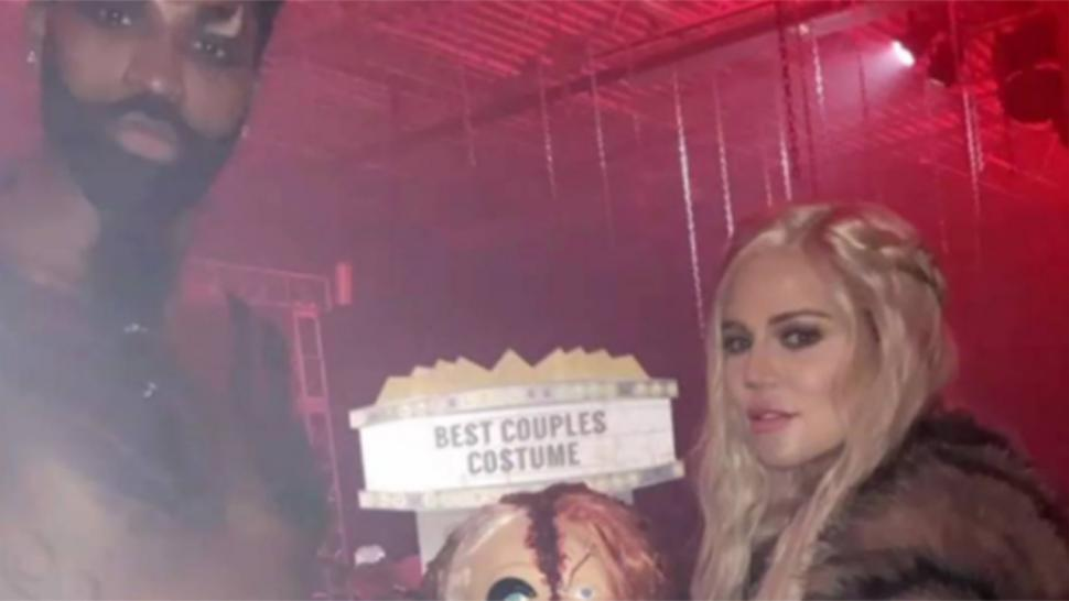 Khloe Kardashian and Tristan Thompson rock couple's Halloween