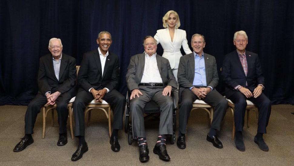 Lady Gaga and Five Former Presidents at One America Appeal Benefit Concert
