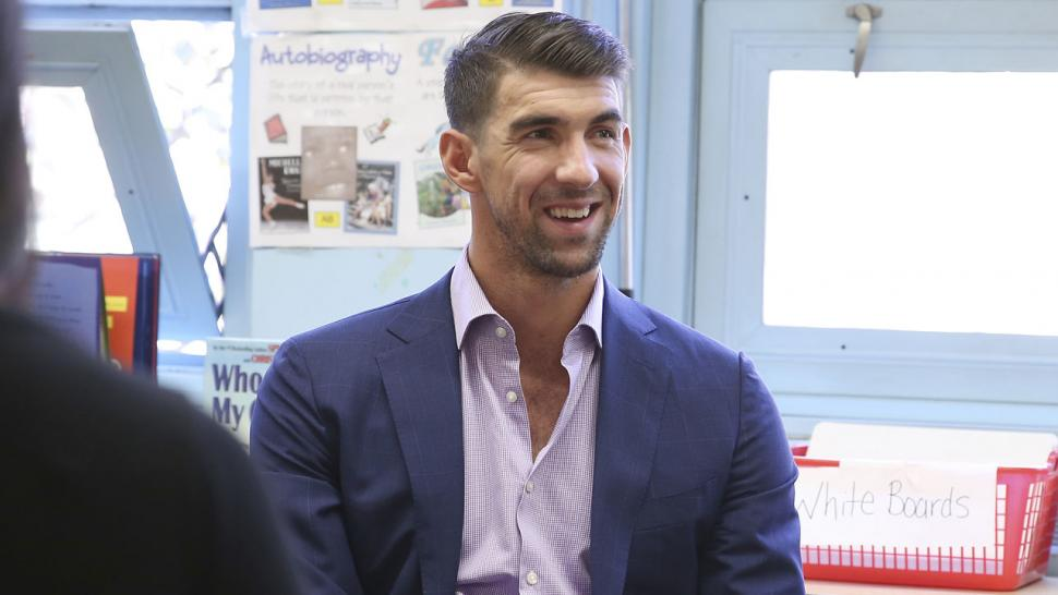 Michael Phelps at Colgate event