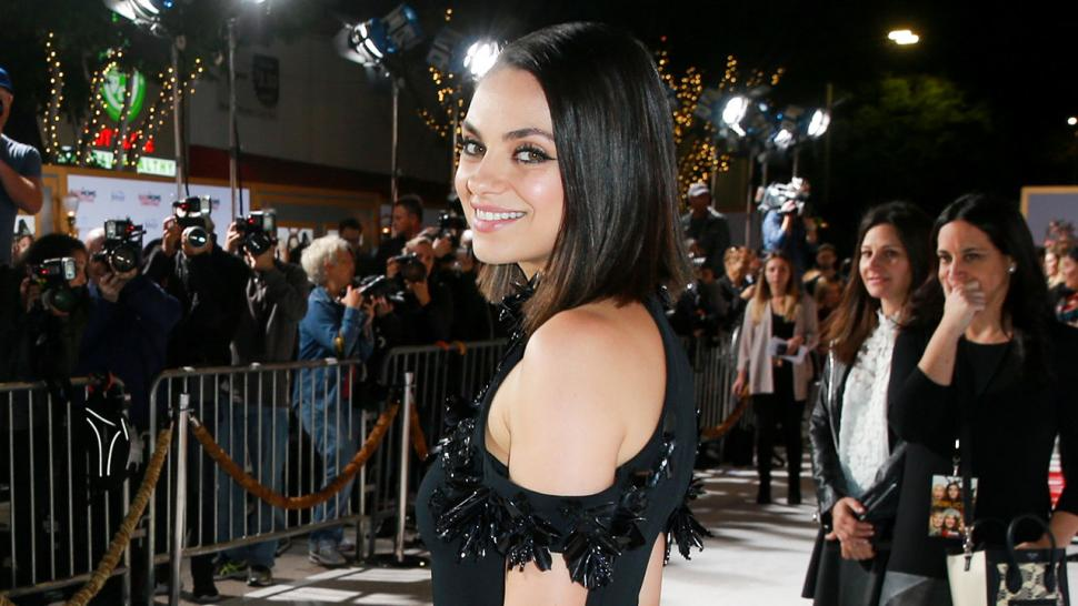 Mila Kunis at a Bad Moms Christmas premiere