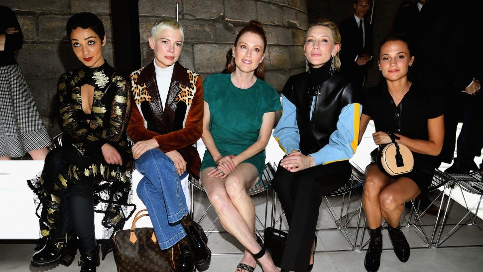 Cate Blanchett, Alicia Vikander Julianne Moore Louis Vuitton Fashion Show 2017