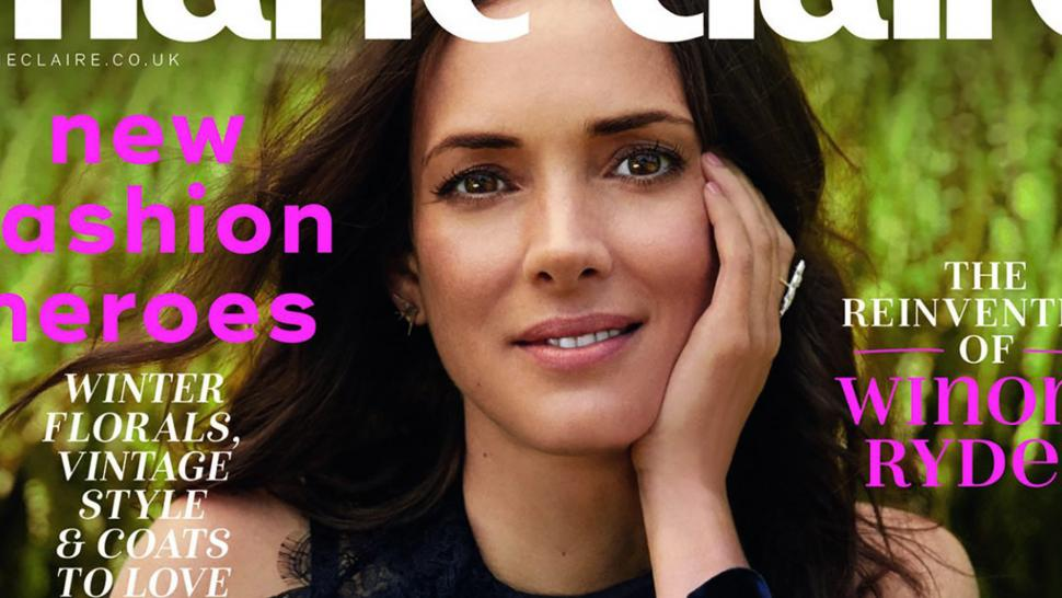 Winona Ryder covers 'Marie Claire UK'