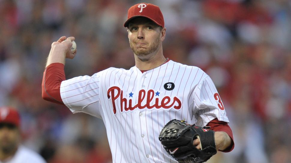 Roy Halladay Pitching Philadelphia Phillies