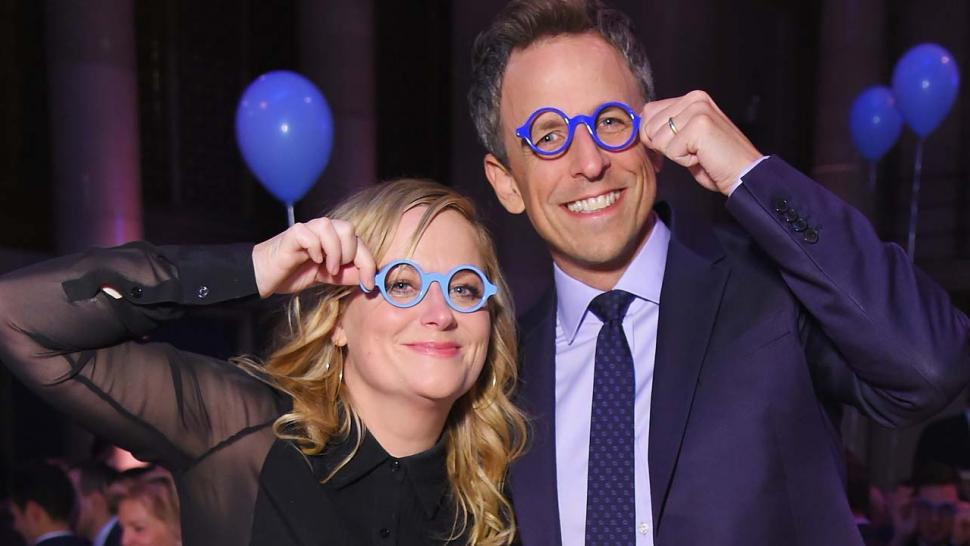 Amy Poehler and Seth Meyers at the Worldwide Orphans 13th Annual Gala at Cipriani Wall Street in New York City