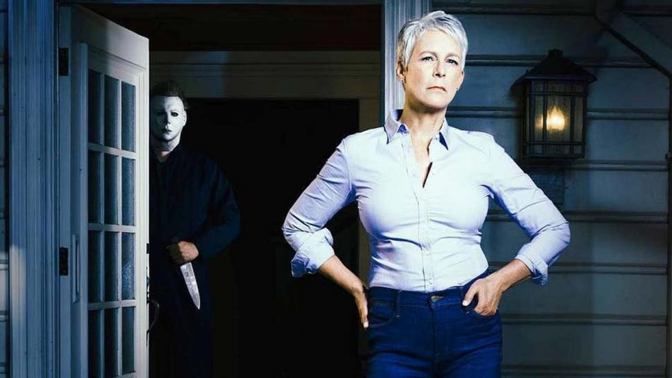 Jamie Lee Curtis and Michael Myers in New 'Halloween' Promo Pic