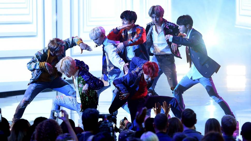 BTS perform at the 2017 American Music Awards at the Microsoft Theater in LA
