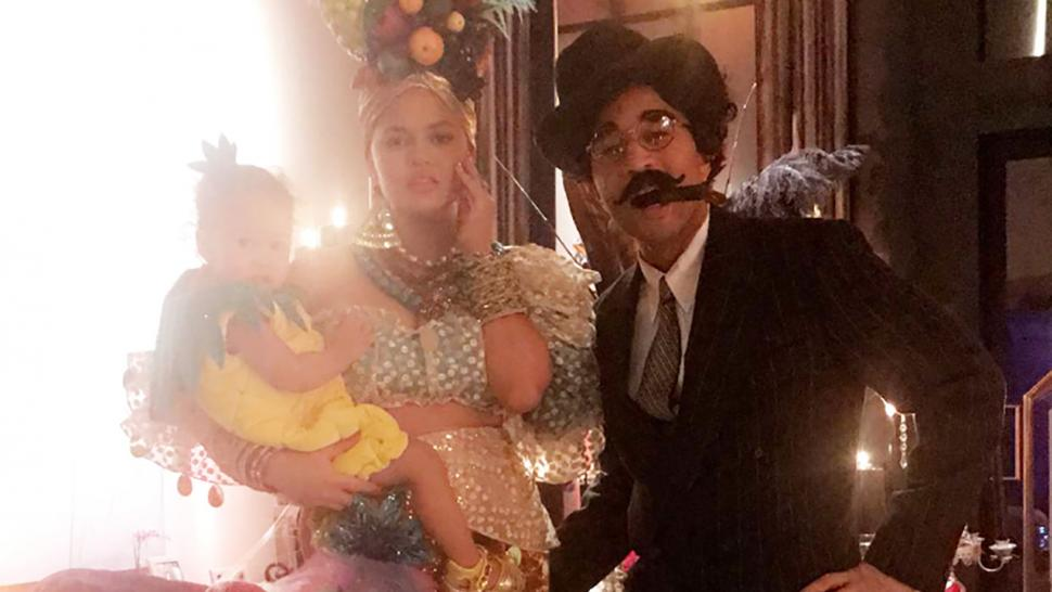 Chrissy Teigen, John Legend, and Luna dress for Halloween