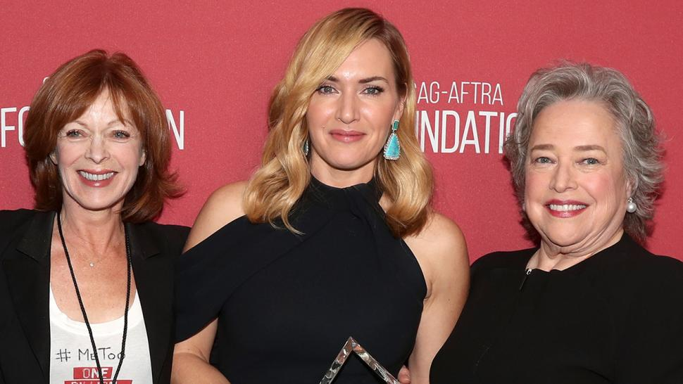 Kate Winslet reunites with Frances Fisher and Kathy Bates
