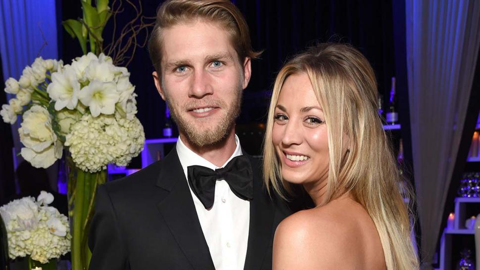 Kaley Cuoco and Karl Cook attend The 22nd Annual Critics' Choice Awards at Barker Hangar in Santa Monica, Ca.