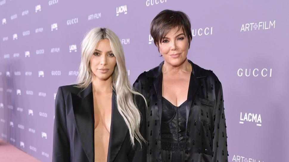 Kim and Kris Jenner at LACMA Art+Film Gala