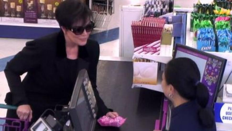 Kris Jenner at 99 Cent Store