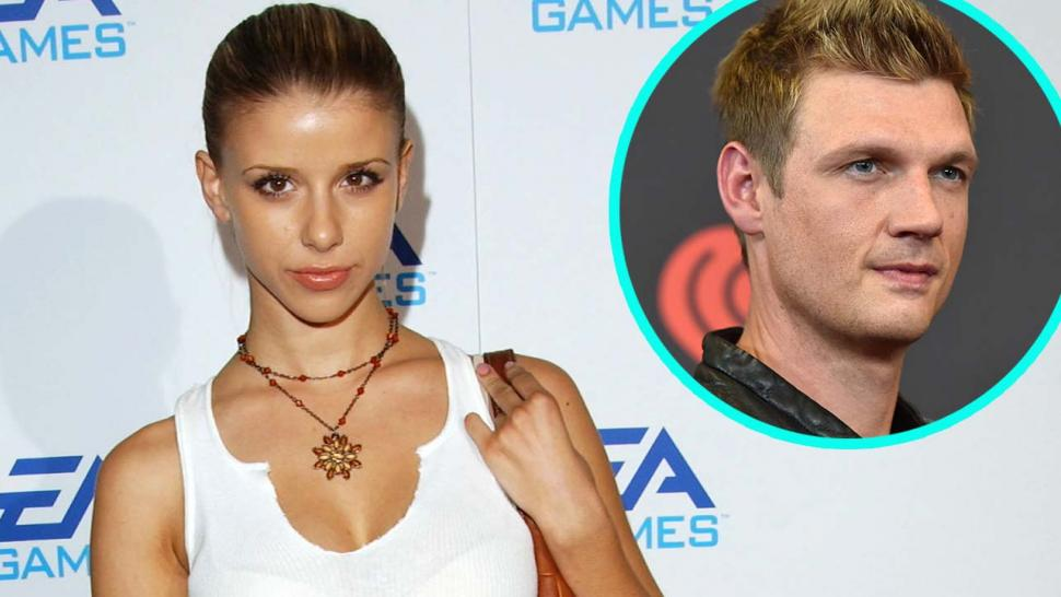 Melissa Schuman and Nick Carter (Inset)