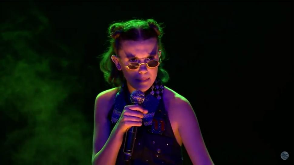 Millie Bobby Brown raps 'Stranger Things'