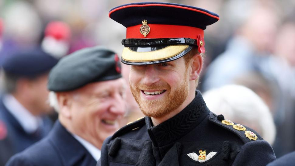 Prince Harry Is a Man in Uniform During Field of ...