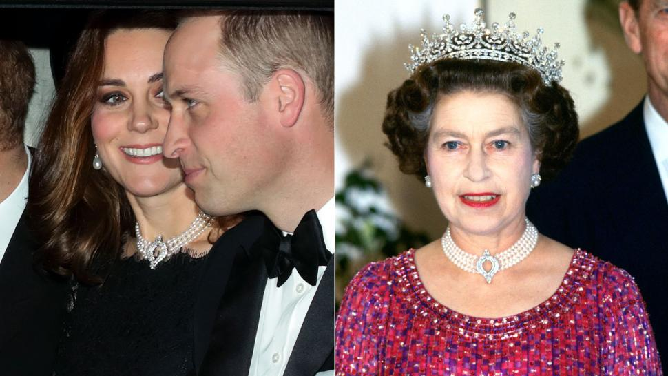 Kate Middleton and Queen Elizabeth pearl choker