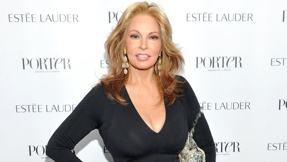 Raquel Welch Turns Heads In Curve Hugging Black Dress