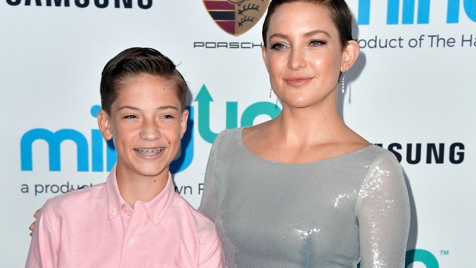 Ryder Robinson and Kate Hudson at Goldie Hawn's Goldie's Love in For Kids event