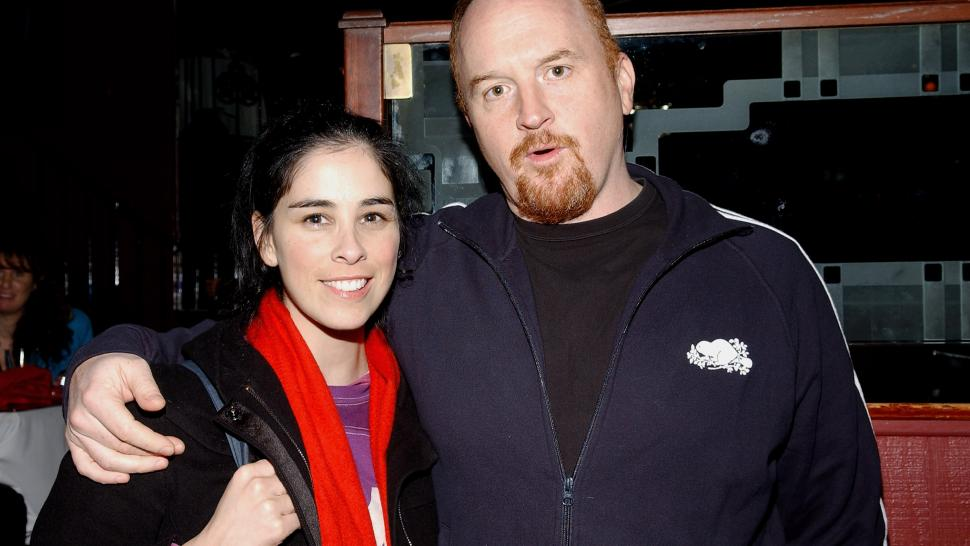 Sarah Silverman and Louis C.K.