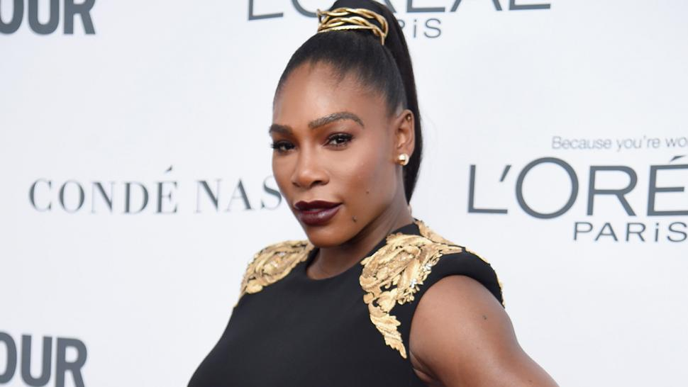 Serena Williams shows off new wedding ring