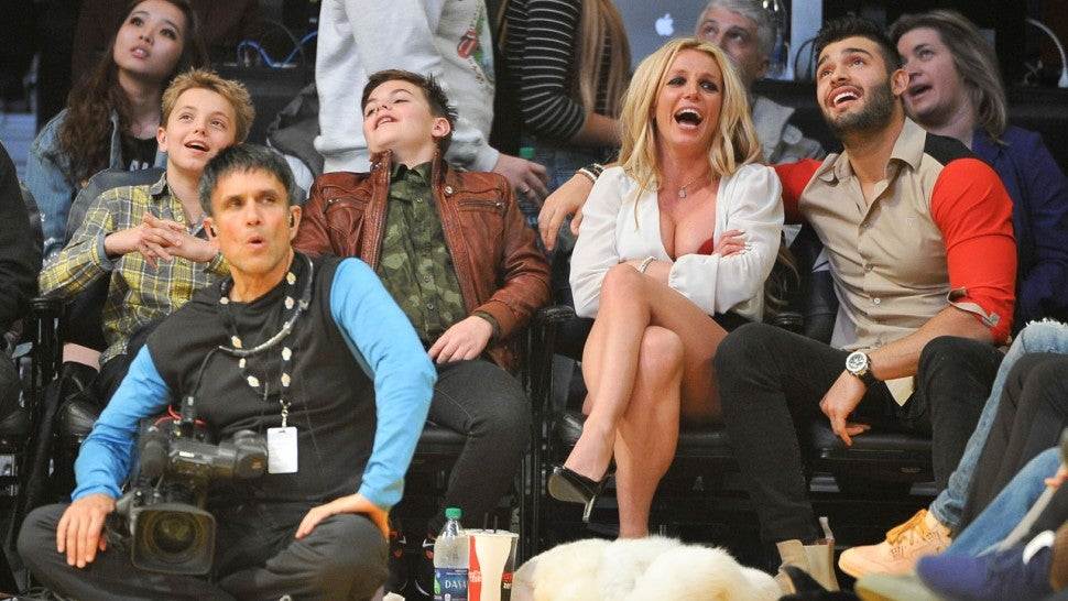 Britney Spears with Sons and Boyfriend