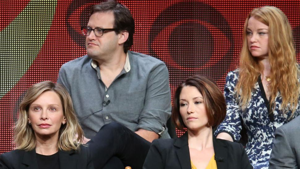 Andrew Kreisberg with 'Supergirl' cast